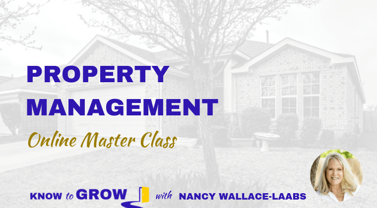 Know to Grow Property Management Online Master Class