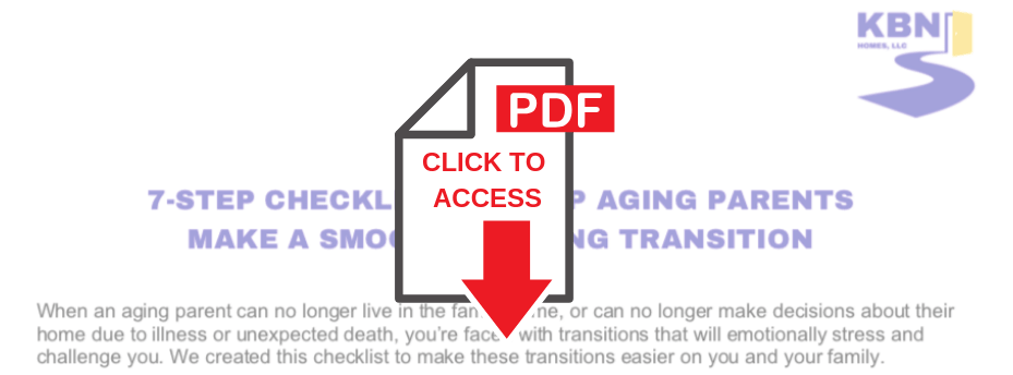 KBN Homes 7-Step Checklist for Aging Parents Housing Transition